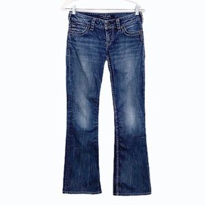 Silver Jeans Pioneer Bootcut Jeans Flap Pockets 27